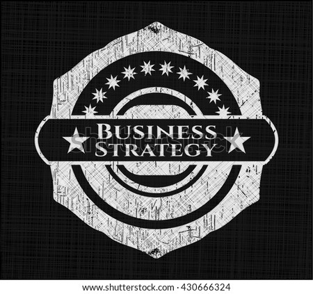 Business Strategy with chalkboard texture
