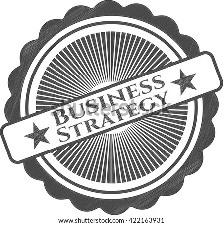 Business Strategy with pencil strokes