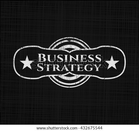 Business Strategy written on a chalkboard