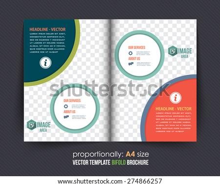 business style bi fold brochure design corporate leaflet cover