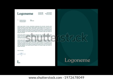 Business style letterhead templates for your business, Vector letterhead template Luxury, Modern and Elegant