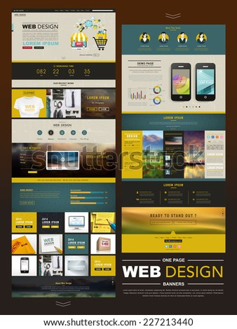 business style one page website