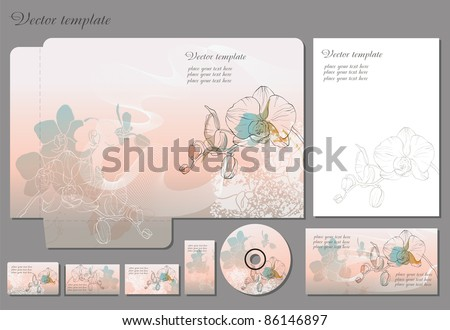 Business style template. Please scale vector to artboard after open