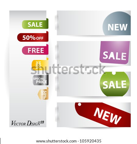 Business style templates for your project design and Price Tag Set. Vector illustration.