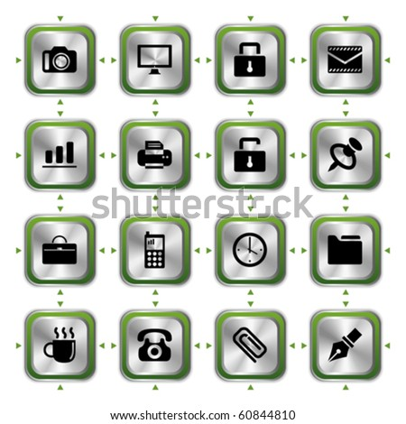 Business stylish icons set. Illustration vector.