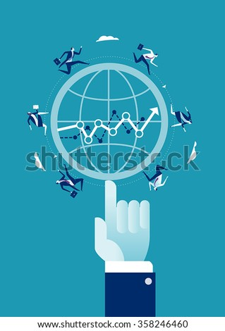 Business success at your fingertips. Business concept illustration.