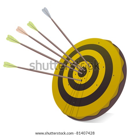 Business Success Target in Black and Yellow