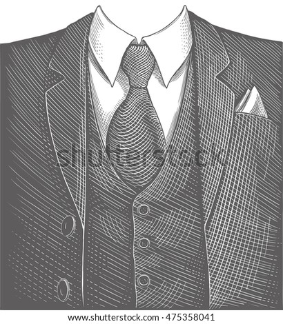 business suit. hand drawn...