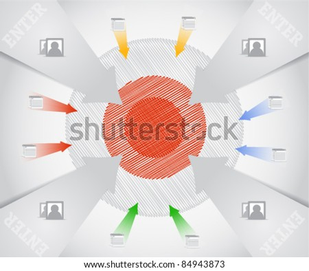 Business target composition - stock vector