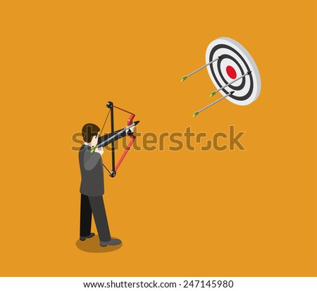 business target concept flat 3d
