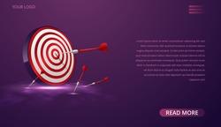 Business target marketing concept, vector illustration