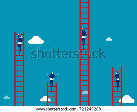 business team climbs to the