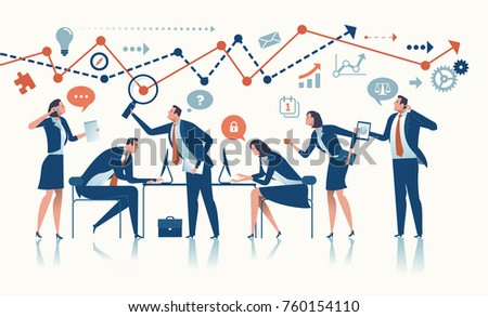 Business Team. Concept vector illustration.