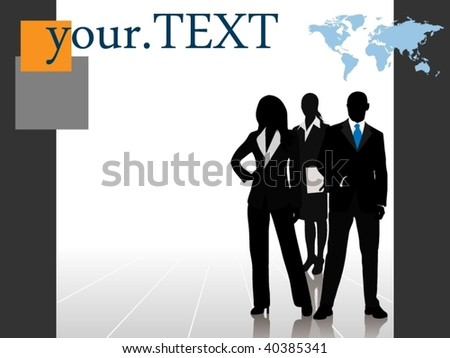 Business team with room for your text - layered