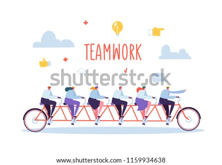 business team work and