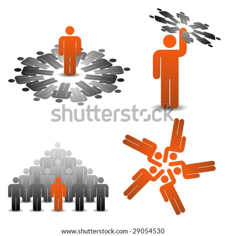 Business teamplay icons 1/2