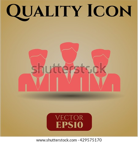 business teamwork icon vector symbol flat eps jpg app