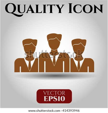 Business Teamwork vector icon or symbol