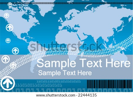 Business & Technology Background - stock vector