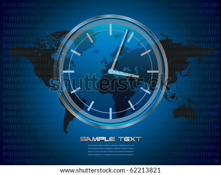 Business, technology background blue, vector.