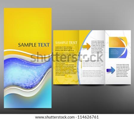 Business template, brochure