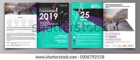 Business Template for Fyer Design Annual report Portfolio Booklet Brochures Layout Leaflet Magazine. Stock vector