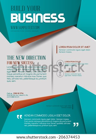 business template poster