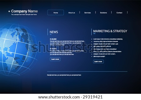 Business template web site