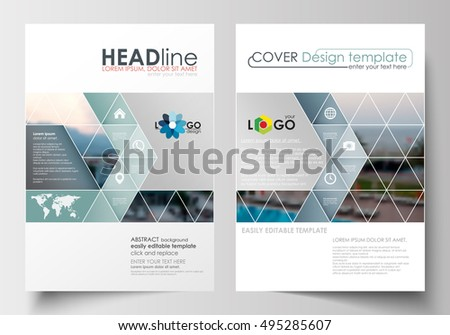 Corporate Brand Business Leaflet Or Brochure Template With Blue