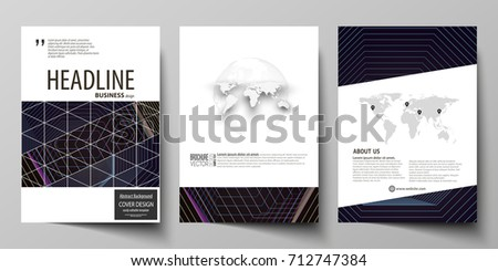 Business brochure flyer design template in geometric blue shapes business templates for brochure magazine flyer booklet cover template vector layout flashek Images