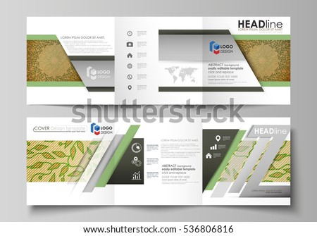 Spa Tri Fold Brochure Vector Template  Download Free Vector Art