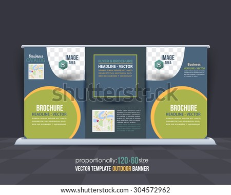 Business Theme Outdoor Banner Design, Advertising Vector Template
