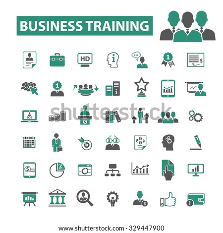 business training, education, school, learning icons #329447900