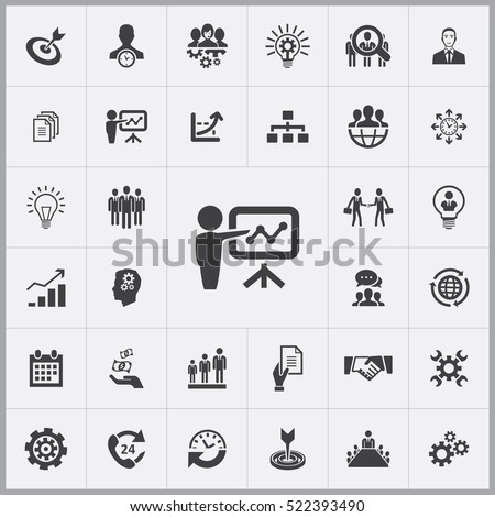 business training icon. business planning icons universal set for web and mobile