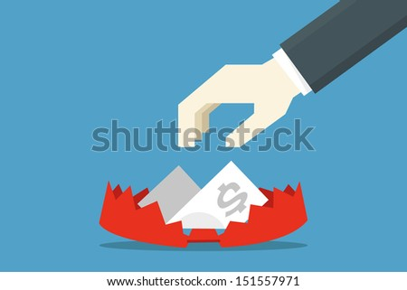 business trap, vector
