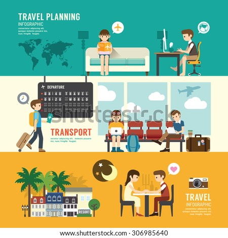 business travel design concept