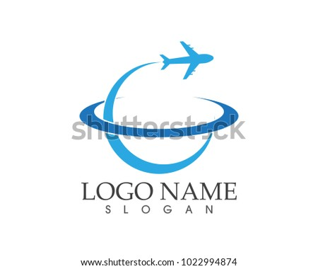 Business travel faster logo design