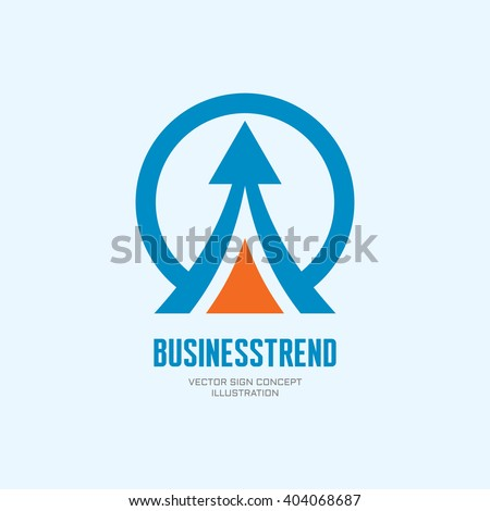 Business trend - vector logo template concept illustration. Development sign. Abstract arrow in circle shape. Design element.