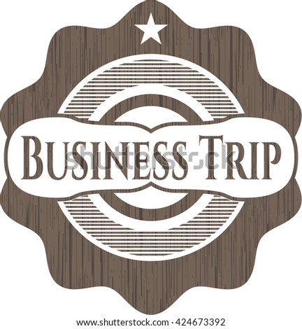 Business Trip wooden emblem