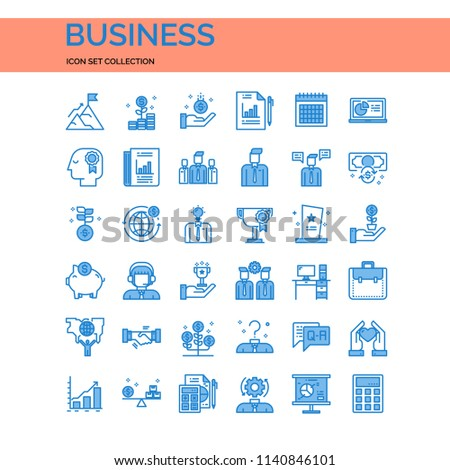 Business UI Pixel Perfect Well-crafted Vector Thin Line Icons. The illustrations are a vector. #1140846101