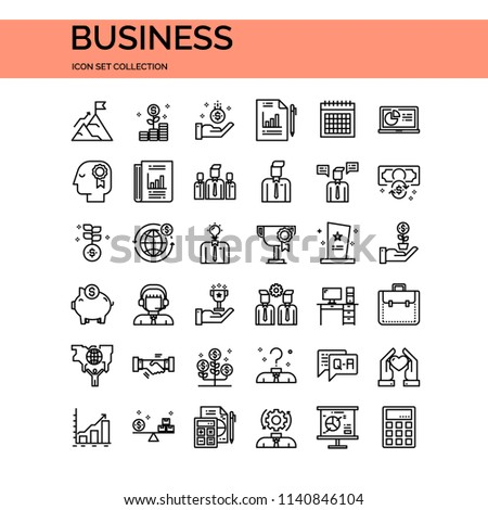 Business UI Pixel Perfect Well-crafted Vector Thin Line Icons. The illustrations are a vector. #1140846104