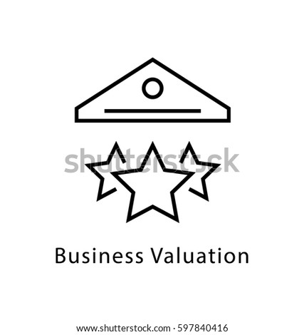 Business Valuation Vector Line Icon