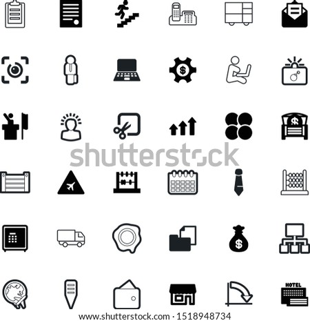 business vector icon set such as: drawn, full, mark, cafe, corporate, suit, solution, genius, checklist, deliver, vacation, increase, elegance, pay, fire, stairs, wallet, wood, debate, courier