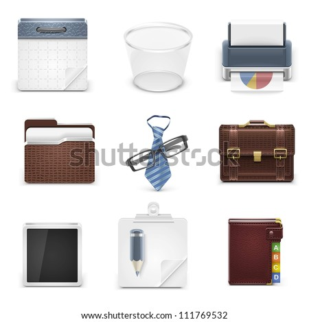 business vector icons - stock vector