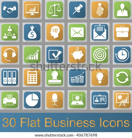 Business vector icons set, modern solid symbol collection, filled pictogram pack. Signs, logo illustration