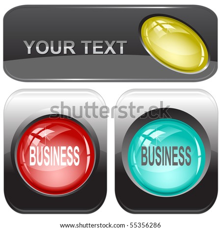 Business. Vector internet buttons. - stock vector