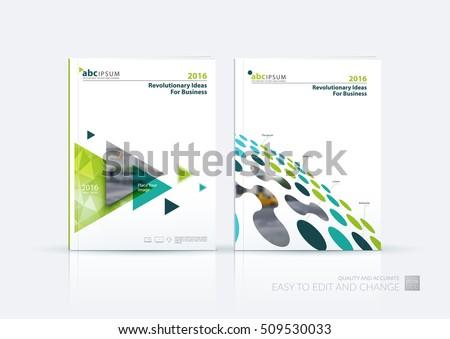 business vector set brochure