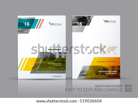 Business vector set. Brochure template layout, cover design annual report, magazine, flyer in A4 with triangles, polygons for travel, finance, teamwork. Abstract creative design.