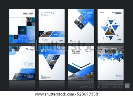 Business Brochure Leaflet Template With Arrow And Geometric Shap
