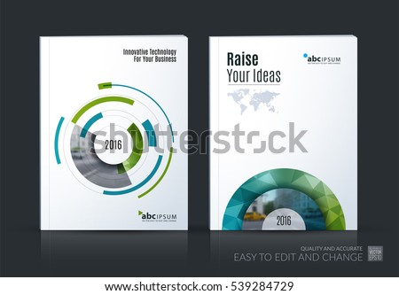 business vector set brochure
